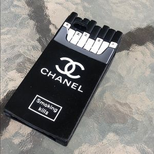 CHANEL SMOKING KILLS IPHONE PHONE CASE